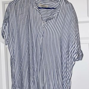 Striped Button Up Tee